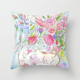 Her Beauty Regime Throw Pillow