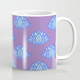Lotus Pattern Violet/Lila Coffee Mug