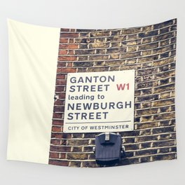 London street sign Wall Tapestry