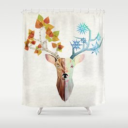 deer season Shower Curtain