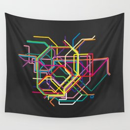 tokyo metro map Wall Tapestry