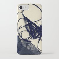 cassette iPhone & iPod Cases featuring Cassette by Ashli Amabile Designs