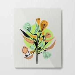Modern floral forms 02 Metal Print