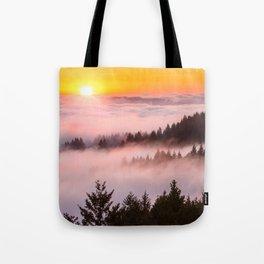 Bolinas Ridge Foggy Sunset Tote Bag