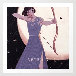 Greek Mythology Artemis Art Print