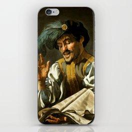 "Dirck van Baburen ""A young man singing"" iPhone Skin"