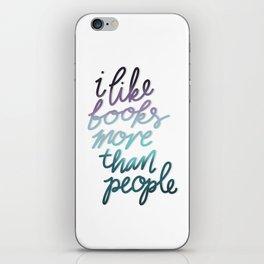 Books & People iPhone Skin