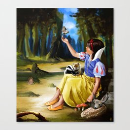 Snow White and Friends Canvas Print