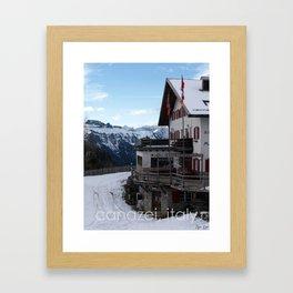 canazei, italy Framed Art Print