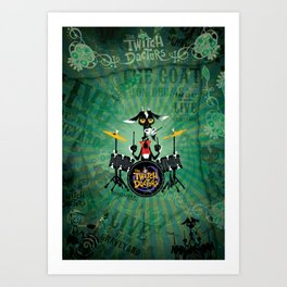 The Goat - Drums. The Twitch Doctors Art Print