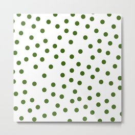 Simply Dots in Jungle Green Metal Print