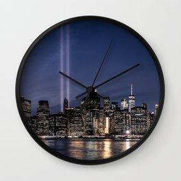 Tribute in Light. New York City, 4 Wall Clock