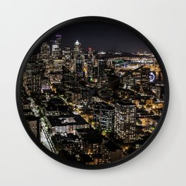 Seattle from the Space Needle Wall Clock