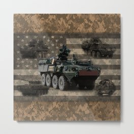 Stryker Armored Vehicle Metal Print