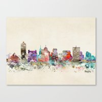 memphis Canvas Prints featuring memphis tennessee by bri.buckley