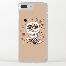 Sugar Rush in Coffee and Cream Clear iPhone Case