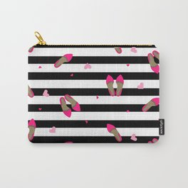 Pumps on stripped black Carry-All Pouch