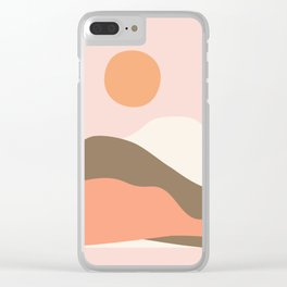 Graphic Desert Clear iPhone Case