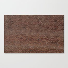 NYC Big Apple Manhattan City Brown Stone Brick Wall Canvas Print