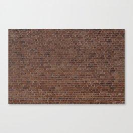 NYC Big Apple Manhattan City Brown Stone Brick Wall Canvas Print