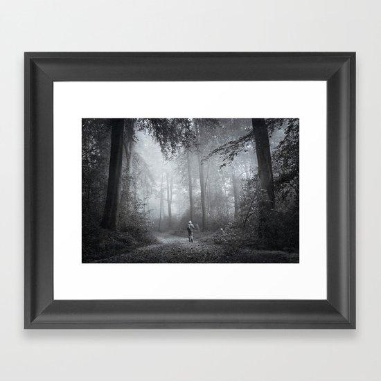 seeking silence Framed Art Print