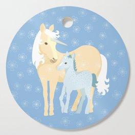 Unicorns. Mom and baby Cutting Board