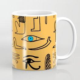 Egyptian Hieroglyphic Pattern Coffee Mug