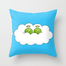 Sleep in Heavenly Peas! Throw Pillow