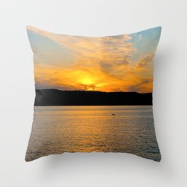 New York Sunset Throw Pillow