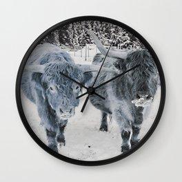 Scotish Highland cattle Wall Clock