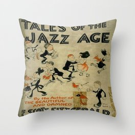 Tales of the Jazz Age vintage book cover - Fitzgerald Throw Pillow