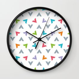 Triangle composition Wall Clock