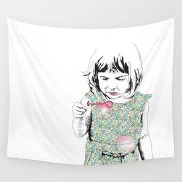 BubbleGirl Wall Tapestry