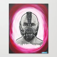 bane Canvas Prints featuring Bane by Michael J Illustrations