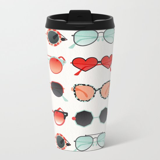 Sunglasses Collection – Red & Mint Palette Metal Travel Mug