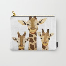 Giraffe Collage Carry-All Pouch