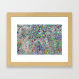 chaotic glitch Framed Art Print