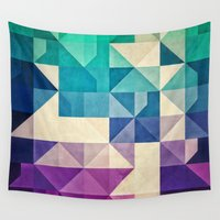 spires Wall Tapestries featuring pyrply by Spires