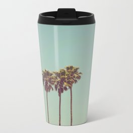 Vintage Palm Trees Metal Travel Mug