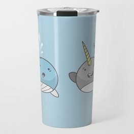 Horny Narwhal Travel Mug