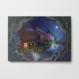Whitegrove Cottage Metal Print
