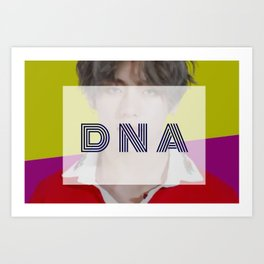 BTS DNA V TAEHYUNG GRAPHIC DESIGN Art Print