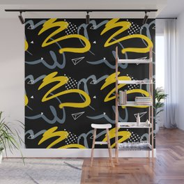black & yellow Wall Mural
