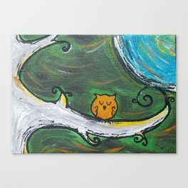 Owl Sleeps In Canvas Print
