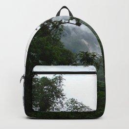 Foggy brazilian forest Backpack