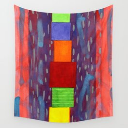 Colorful piled Cubes within free Painting Wall Tapestry