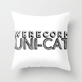 Werecorn Uni-Cat Throw Pillow