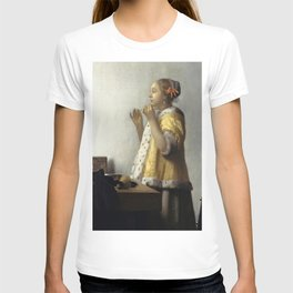 """Johannes Vermeer """"Woman with a Pearl Necklace"""" T-shirt"""