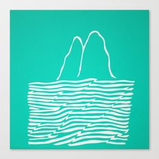 Sea Foam Waves Canvas Print