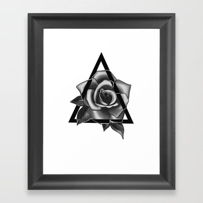 Rose Tattoo Design Gerahmter Kunstdruck